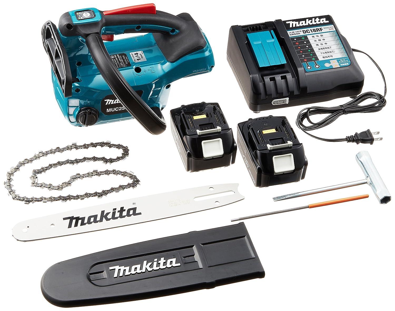 マキタ(Makita) 充電式チェンソー ガイドバー長さ250mm 18V 6Ah バッテリ2本充電器付 MUC254DRGX B072HK91LH