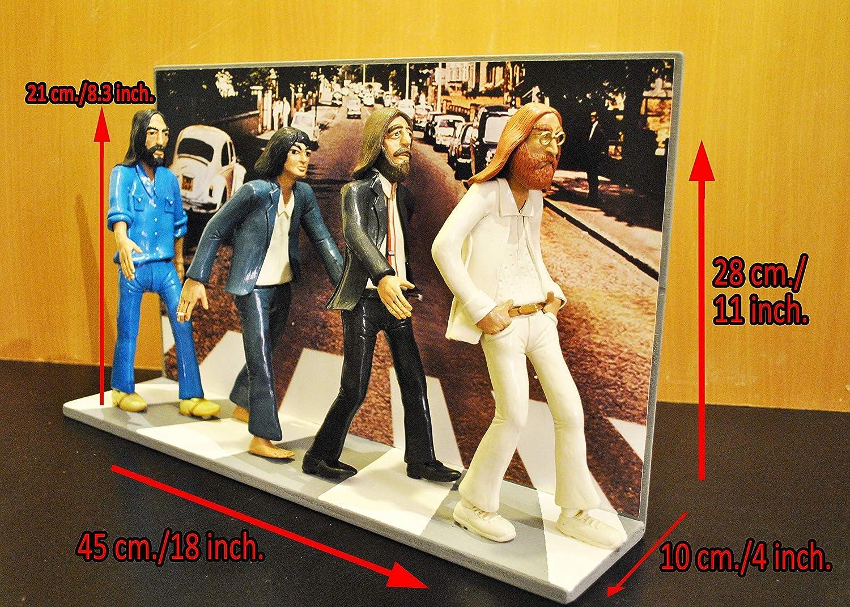 8.2 inch ACTION FIGURES - Statuette Action-Figuren mit den Beatles Abbey Road Landschaft