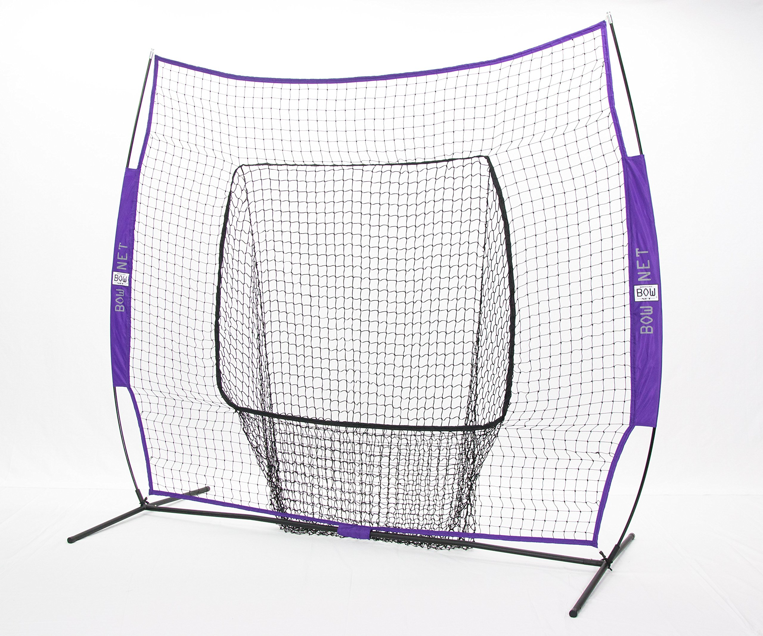 Bownet Big Mouth Colors 7' x 7' Portable Training Net with Frame, Purple