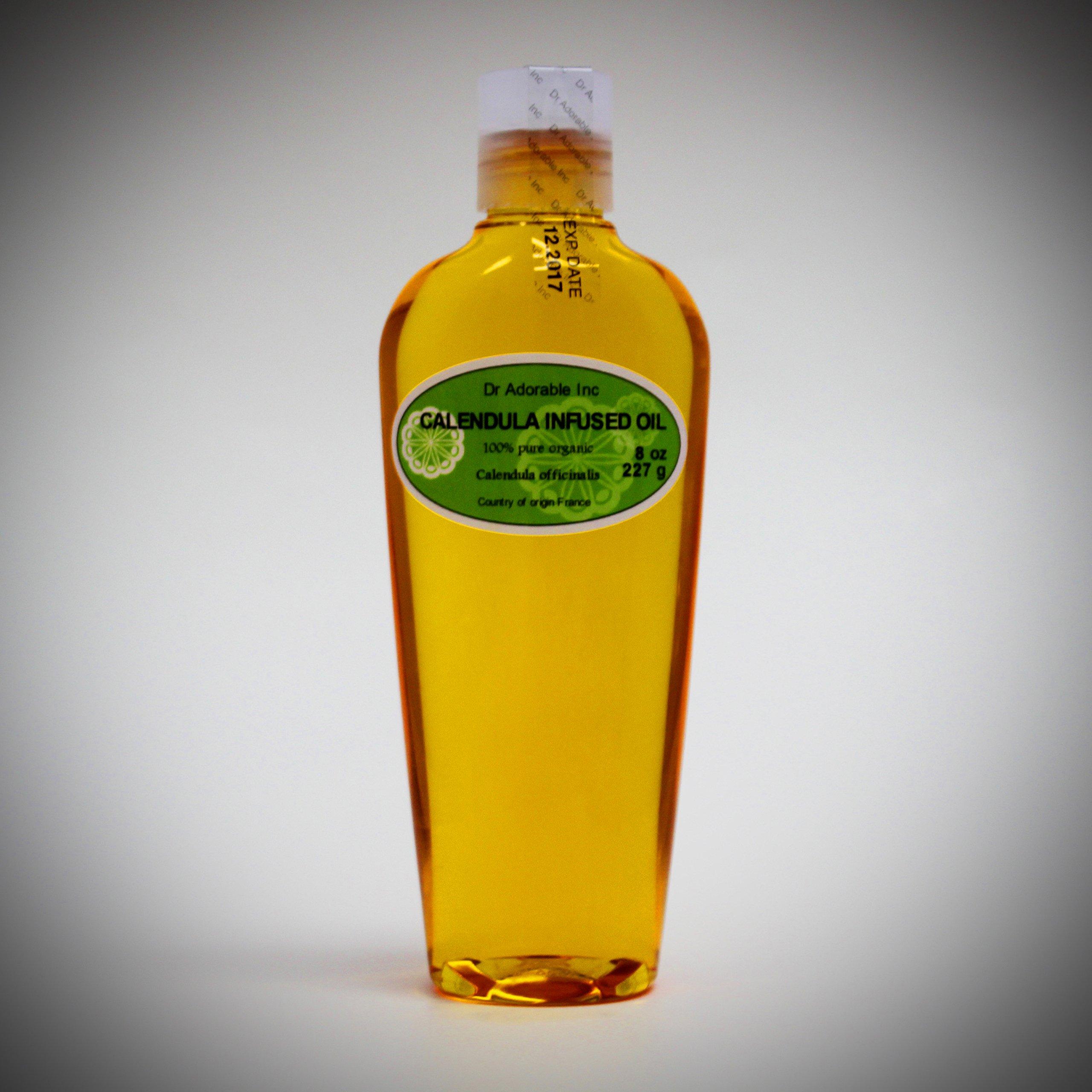 8 Oz Organic Calendula Infused Oil 100% Pure
