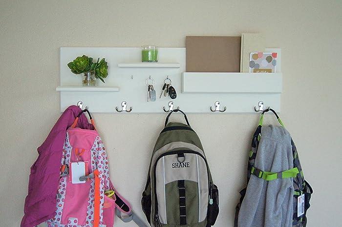 Backpack Hooks Entryway Organizer Large Mail Storage Key Hooks And Coat Rack