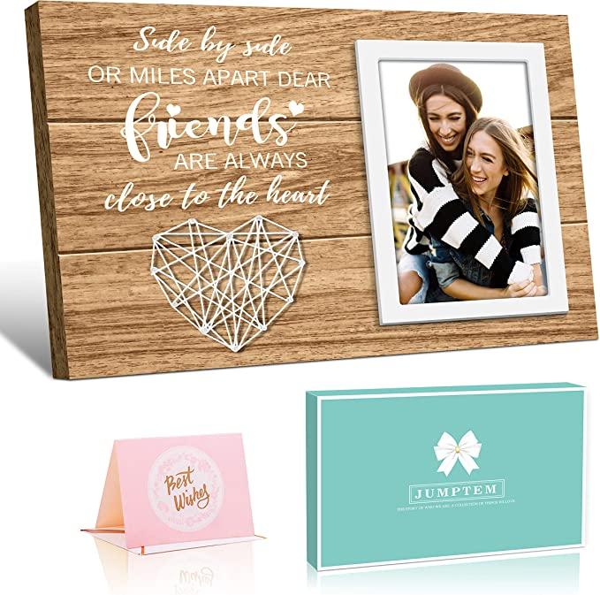 Sister/'s by chance Photo Frame Long Distance Friendship BFF gift Gift for the Wedding couple Best Friend Frame Gift Picture Frame Collage