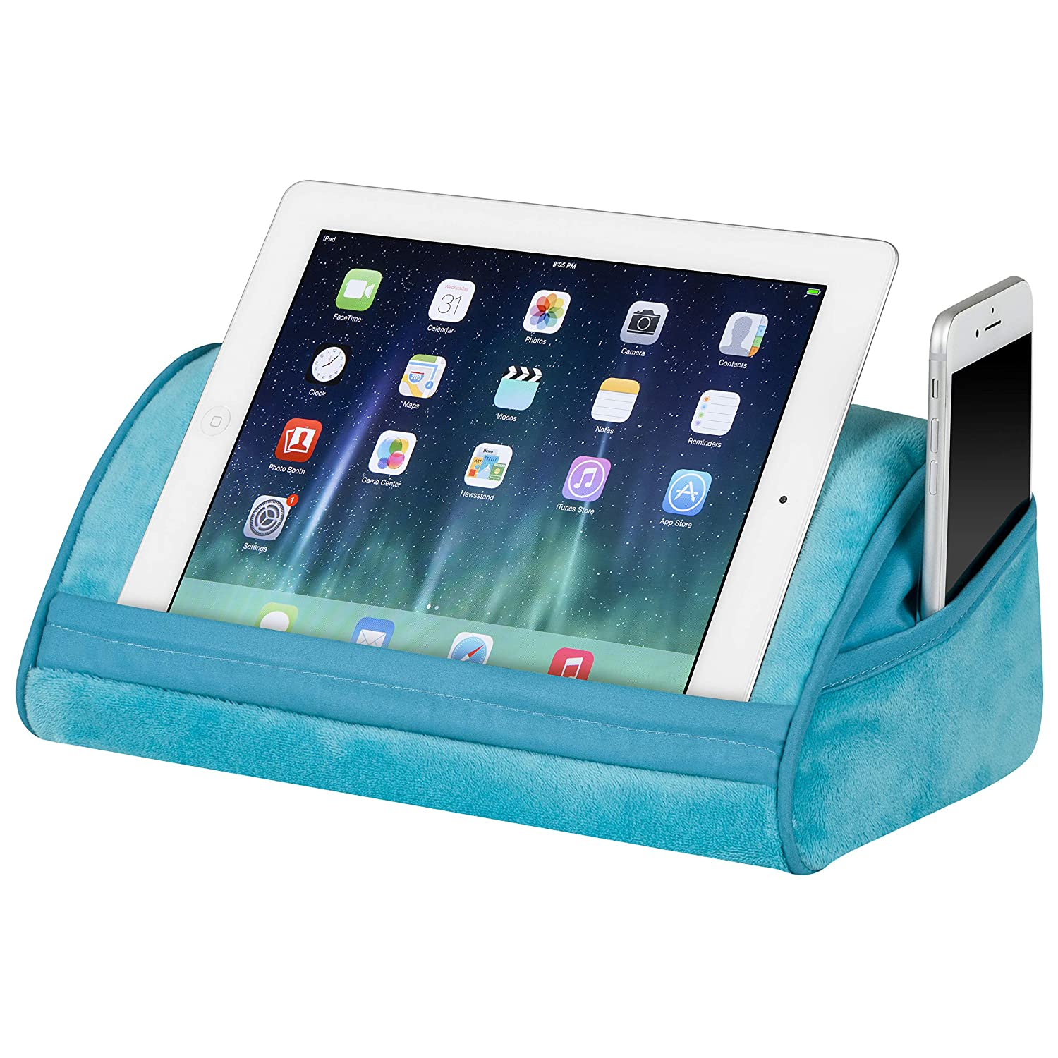 Turquoise - Style #35049 LapGear Original Tablet Pillow//Tablet Stand Fits Up to 10.9 Tablet