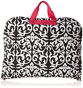 df0912e2b397 World Traveler 40 Inch Hanging Garment Bag, Pink Trim Damask, One Size