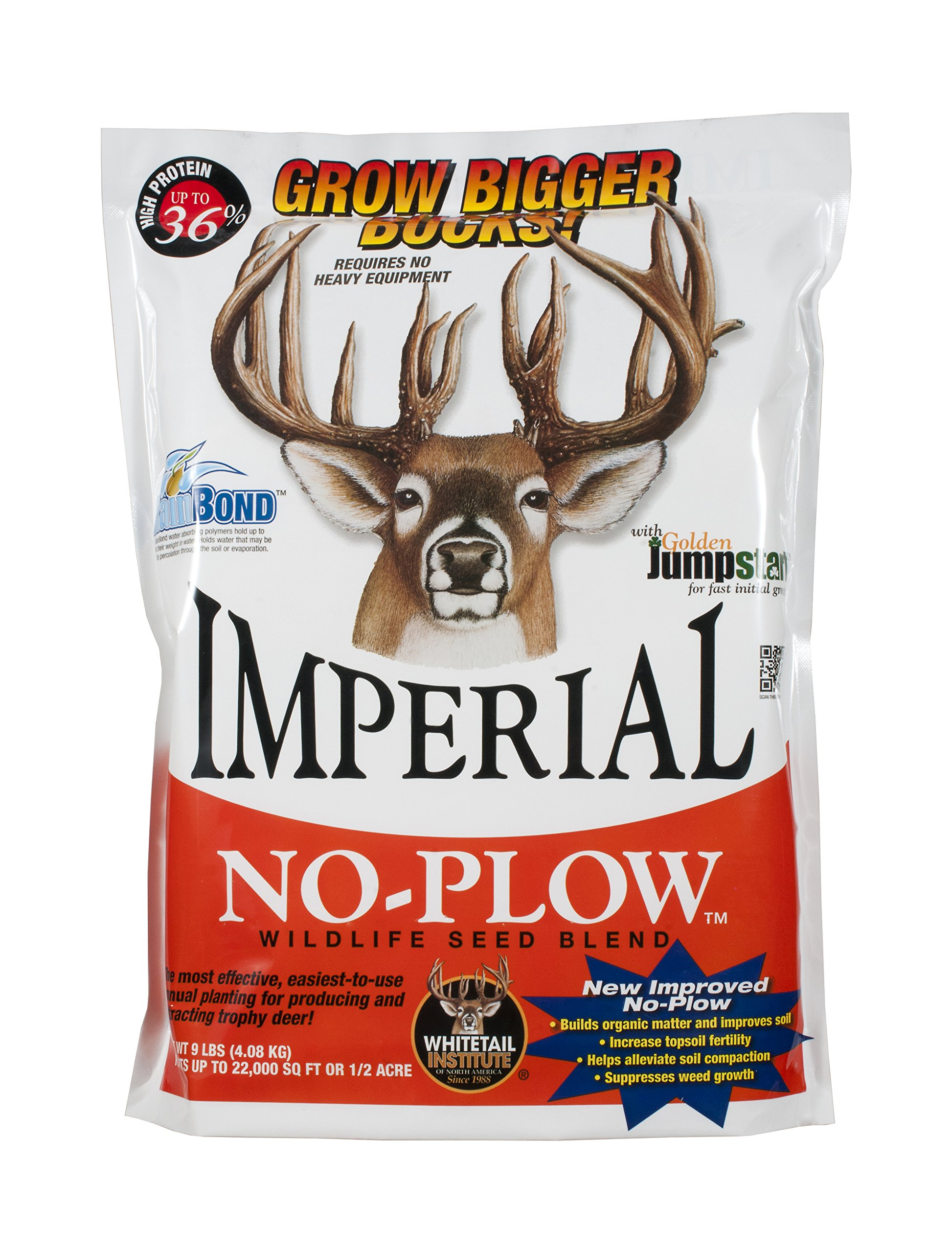 Whitetail Institute Imperial ''No-Plow'' Food Plot Seed (Spring and Fall Planting), 25-Pound (1.5 Acres) by Whitetail Institute