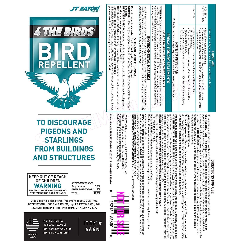 Amazon.com: JT Eaton 666 N 4 las aves repelente de aves ...