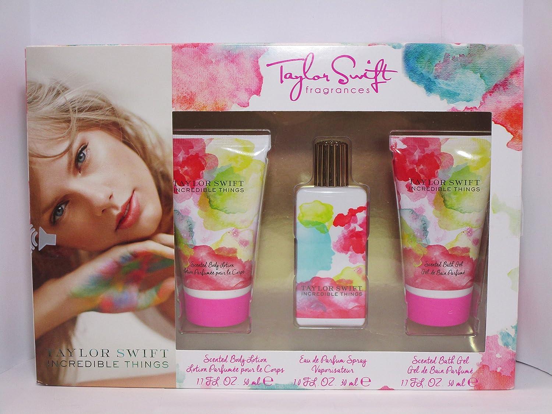Incredible Things By Taylor Swift Eau De Parfum 3 Piece Gift Set By Taylor Swift Incredible Things Amazon Ca Beauty