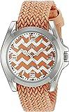 XOXO Women's XO3418 Silver-Tone Watch with Orange Band