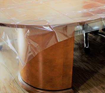 Amazon.com: Exquisite Heavy Duty Waterproof Plastic Table Cover, Crystal  Clear PVC Tablecloth Protector (60 Part 58