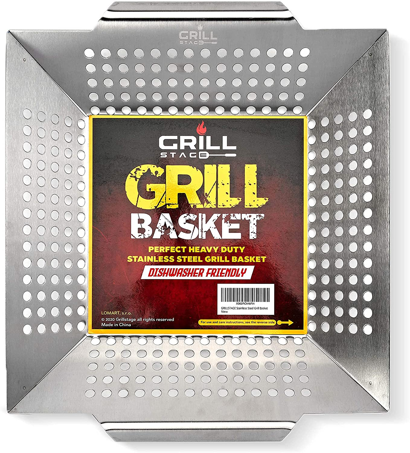 Heavy Duty Stainless Steel Grill Basket - Large, Thick Bbq Vegetable Grilling Basket Is Perfect For Grills, Smokers & Even Indoor Use - The Surface Is Very Easy To Clean When You're Done Using It