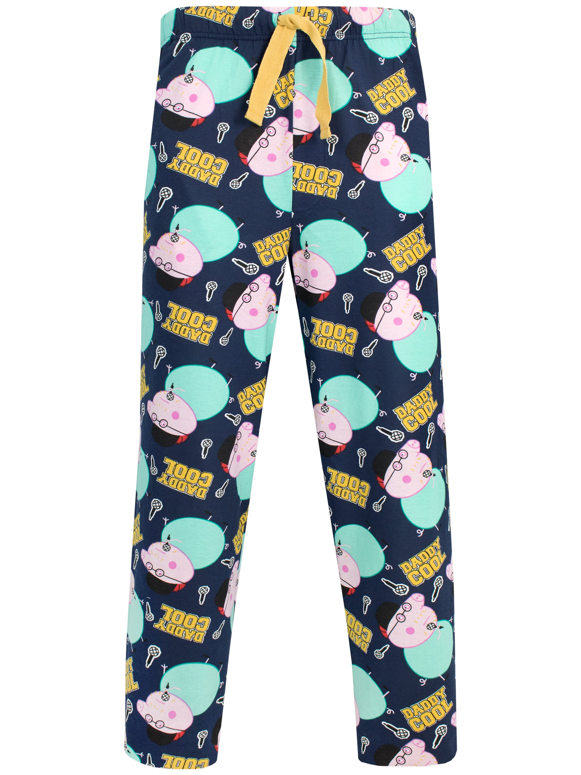 Peppa Pig Mens' Daddy Pig Lounge Pant Size X-Large Multicolored
