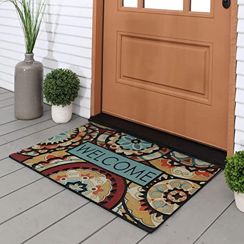 Mohawk Home 4929 18808 023035 EC Spice Route Medallion Doormat, Blue