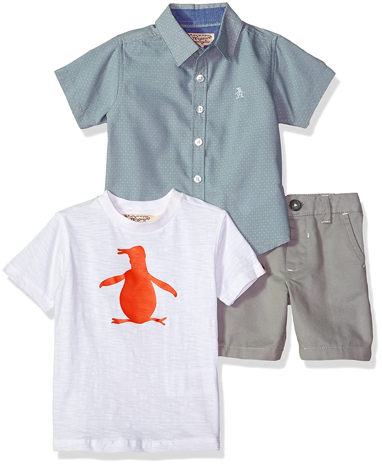 Original Penguin Boys' Sport, Knit Shirt and Short Set