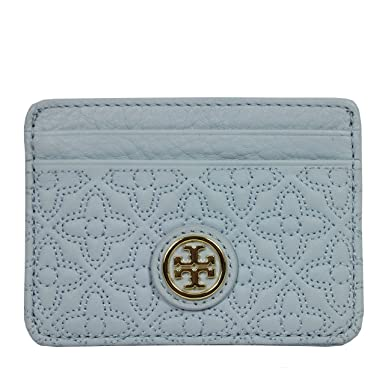 quilted card holder - Blue Tory Burch AIeSHQVFFW