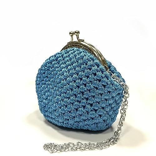 DAFNE - Italian Handmade - Monedero hecho a mano. Crochet ...