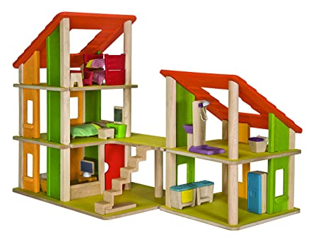 ec114cacaec016 Plantoys Chalet Dollhouse with Furniture, PT7602, Wood  Amazon.fr  Jeux et  Jouets