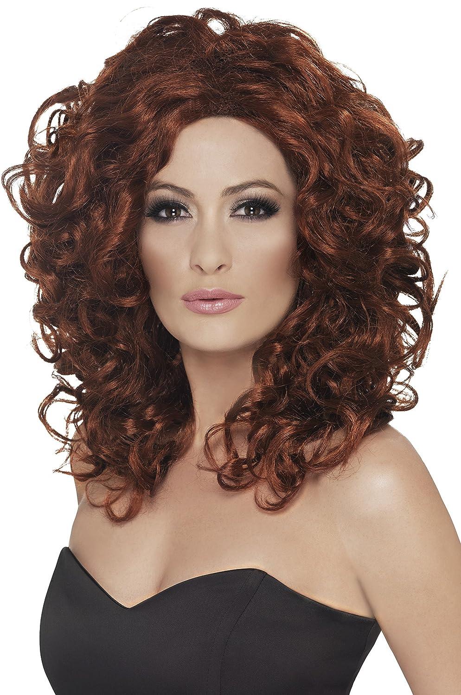 Smiffy's Women's Fantasy Wig Auburn Curly One Size 5020570422700 RH Smith & Sons LTD