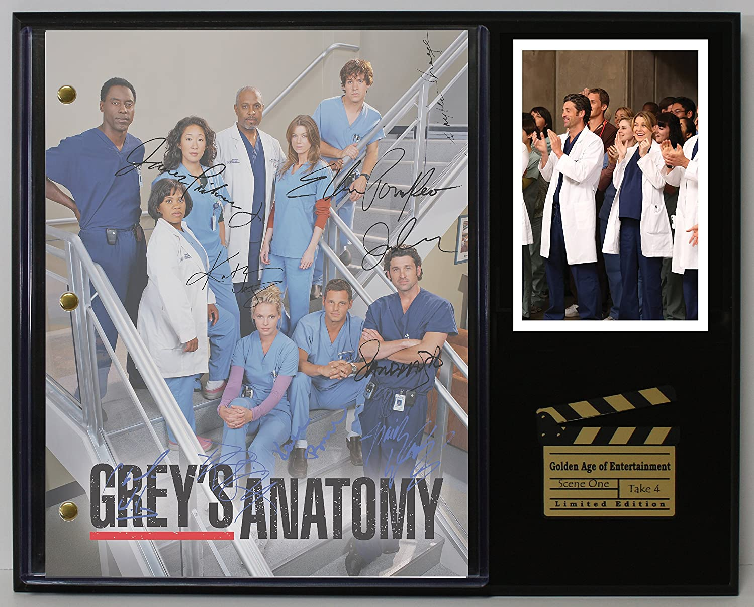 GREYS ANATOMY LTD EDITION REPRODUCTION SIGNED TELEVISION SCRIPT DISPLAY'C3'