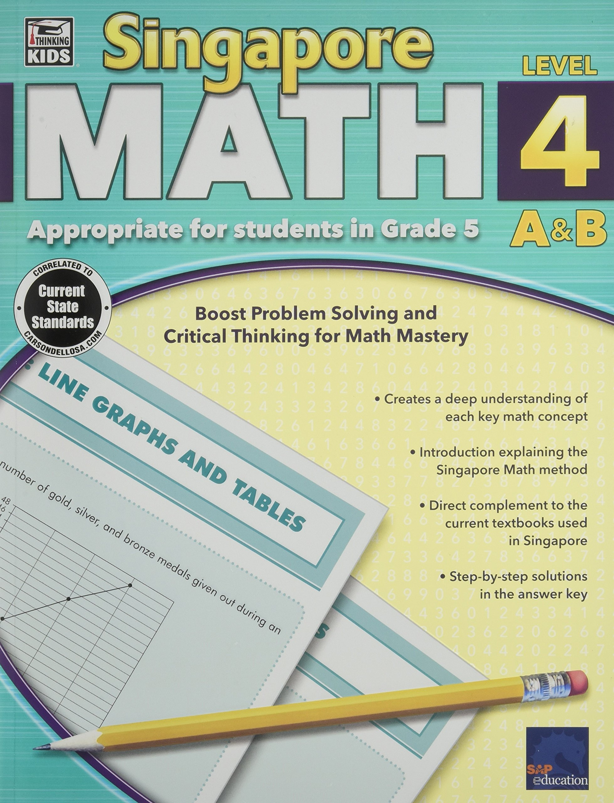Singapore Math, Level 4 A & B: Thinking Kids: 0044222240790: Amazon ...