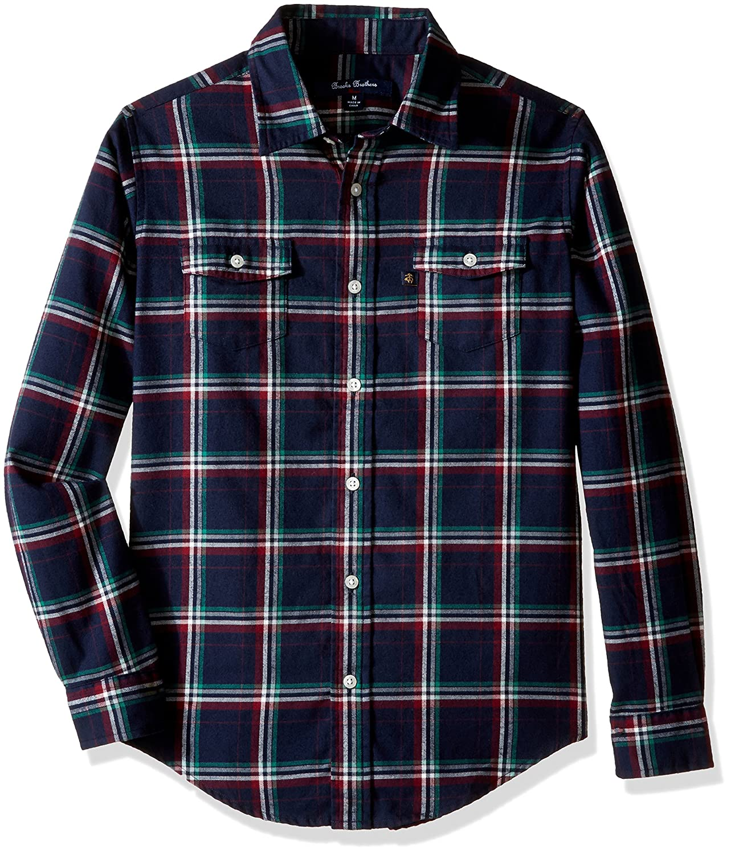 Brooks Brothers Boys' Holiday Plaid Flannel