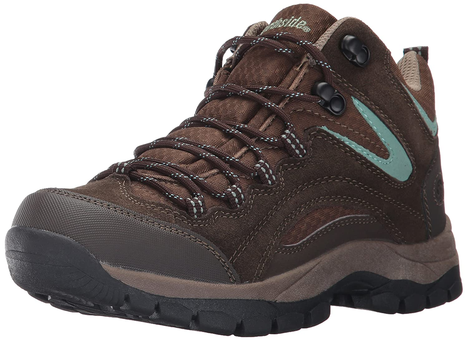 Northside Womens Hiking Pioneer Mid Rise Leather Hiking Womens Boot B01N9WWGG1 9.5 B(M) US|Dk Brown/Sage 8b2ee2