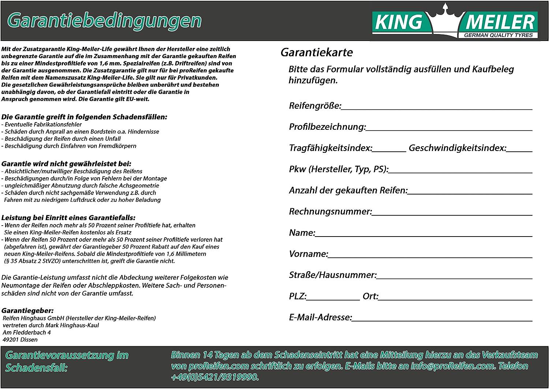 King Meiler Life PKW HPC Winterreifen 225//75//R16C 118//116Q