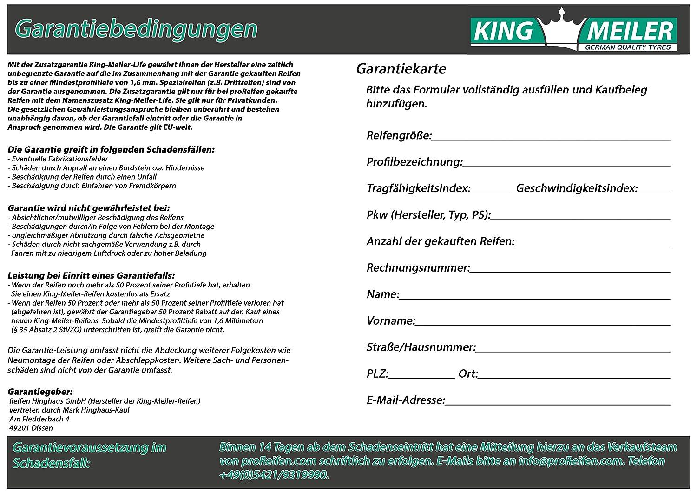 PKW King Meiler Life 205//65//R15 94H WT81 Winterreifen