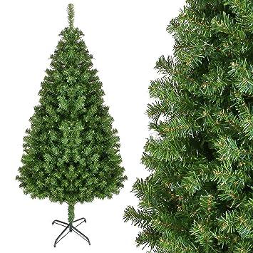 Weihnachtsbaum Künstlich Aussen.Homfa 195cm Künstlicher Weihnachtsbaum Tannenbäume Christbaum Mit Metallständer 1000 Spitzen Schwer Entflammbare Materialien Außen Innen