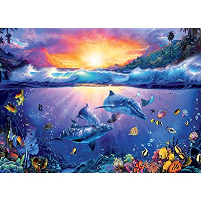 Ocean Magic Collection Twilight in Paradise Jigsaw Puzzle, 1000 Pieces: Toys & Games