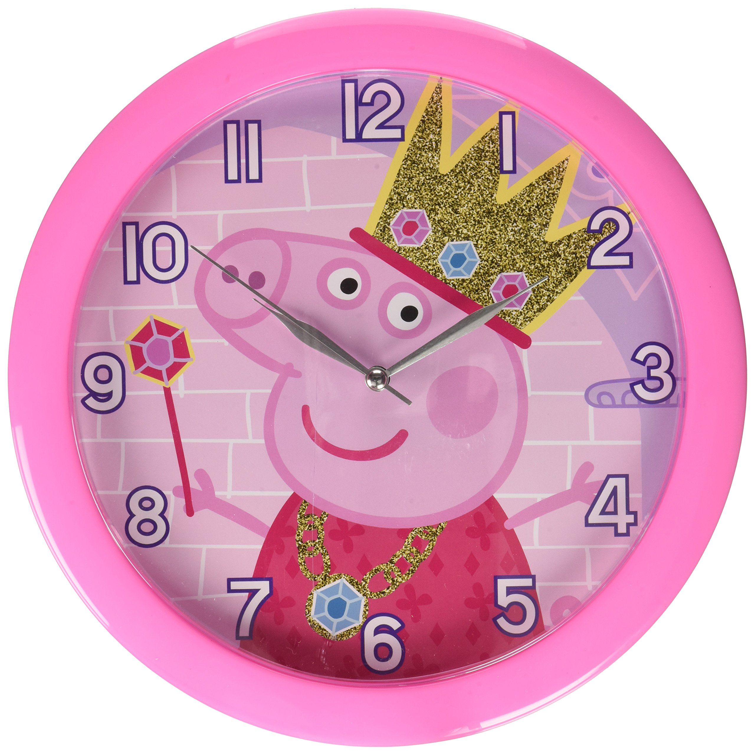 Peppa Pig 10'' Round Wall Clock in Open Window Box