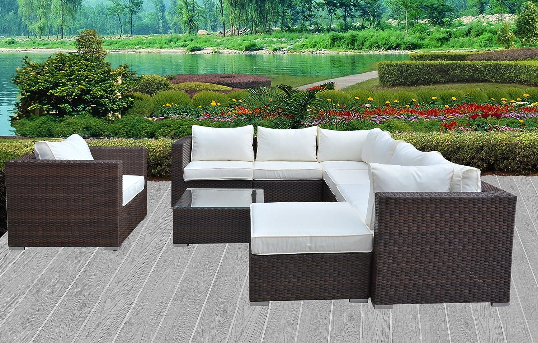 Hansson Sports Gartenmöbel Polyrattan Lounge Sitzgruppe Braun 87