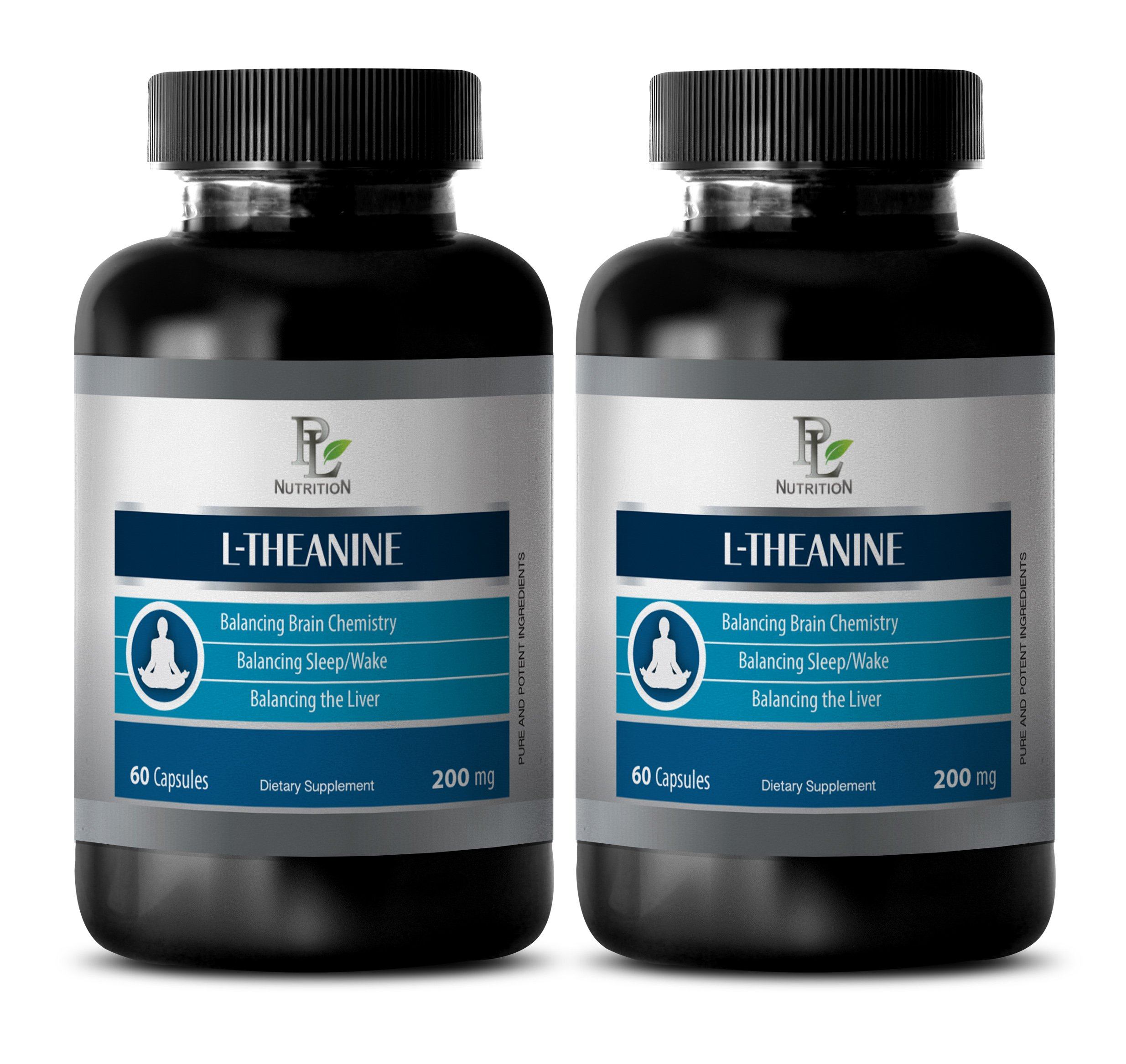 sleeping aid calm - L-Theanine 200MG - energy boost - 2 Bottles (120 Capsules)