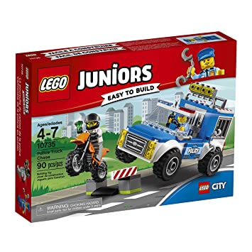 LEGO Juniors Police Truck Chase 10735 Toy for 4-Year-Olds, Building ...