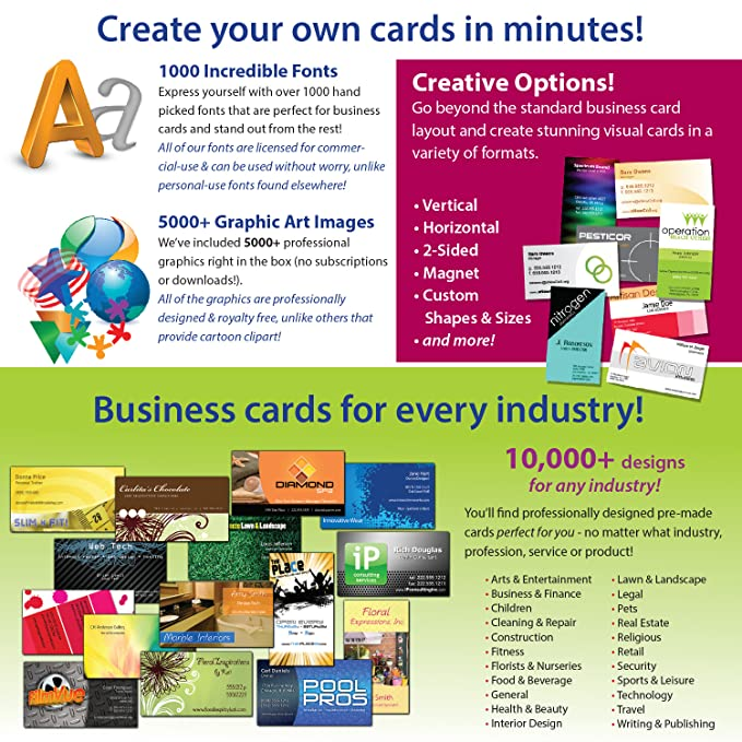 Amazon business card studio pro download software reheart Choice Image