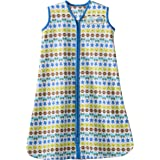 HALO SleepSack 100% Cotton Wearable Blanket, Print Boy, Small