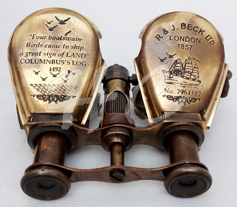 Vintage Antique Chinese Antique Copper Binocular fold Telescope