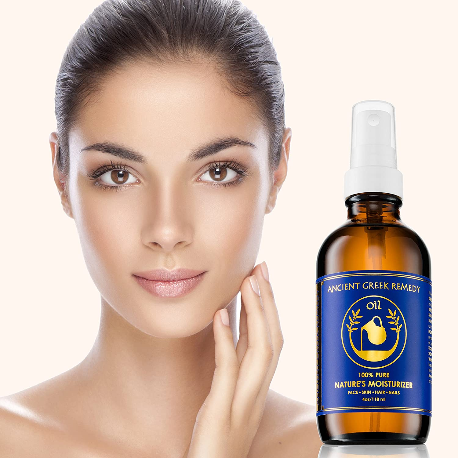 Organic Blend of Olive, Lavender, Almond and Grapeseed oils with Vitamin E. Day and night Moisturizer for Skin, Dry Hair, Face, Scalp, Foot, Cuticle and Nail Care. Natural Body oil for Men and Women : Beauty