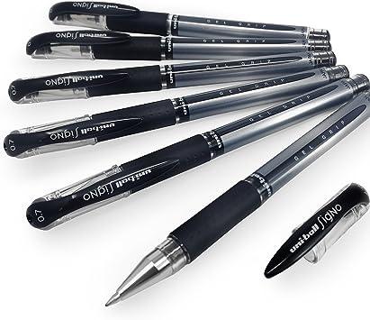 Uni-Ball UM-151s Signo Gel Comfort Grip 3 Pen PackBlack Ink 0.7mm
