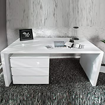 Eckschreibtisch weiß design  MODERNER DESIGN SCHREIBTISCH
