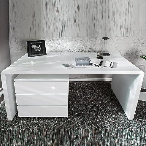 Schreibtisch design weiß  MODERNER DESIGN SCHREIBTISCH