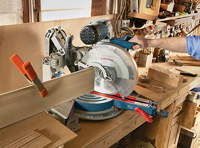Bosch Power Tools GCM12SD -12 Inch Corded Dual-Bevel Sliding Glide Miter Saw with 60 Tooth Saw Blade
