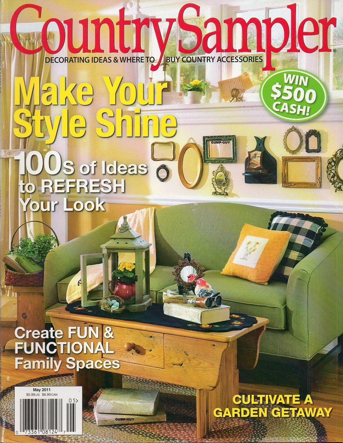 Country Sampler May 2011 Vol 28 No 3 Magazine DECORATING IDEAS ...