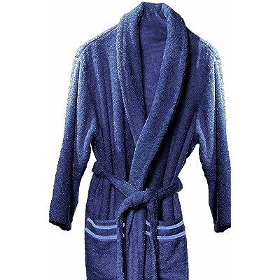 Athènes Home Textile Altea–Peignoir de bain, Taille M, 100% coton, 320g/m², de couleur Beige et marron X-Large bleu