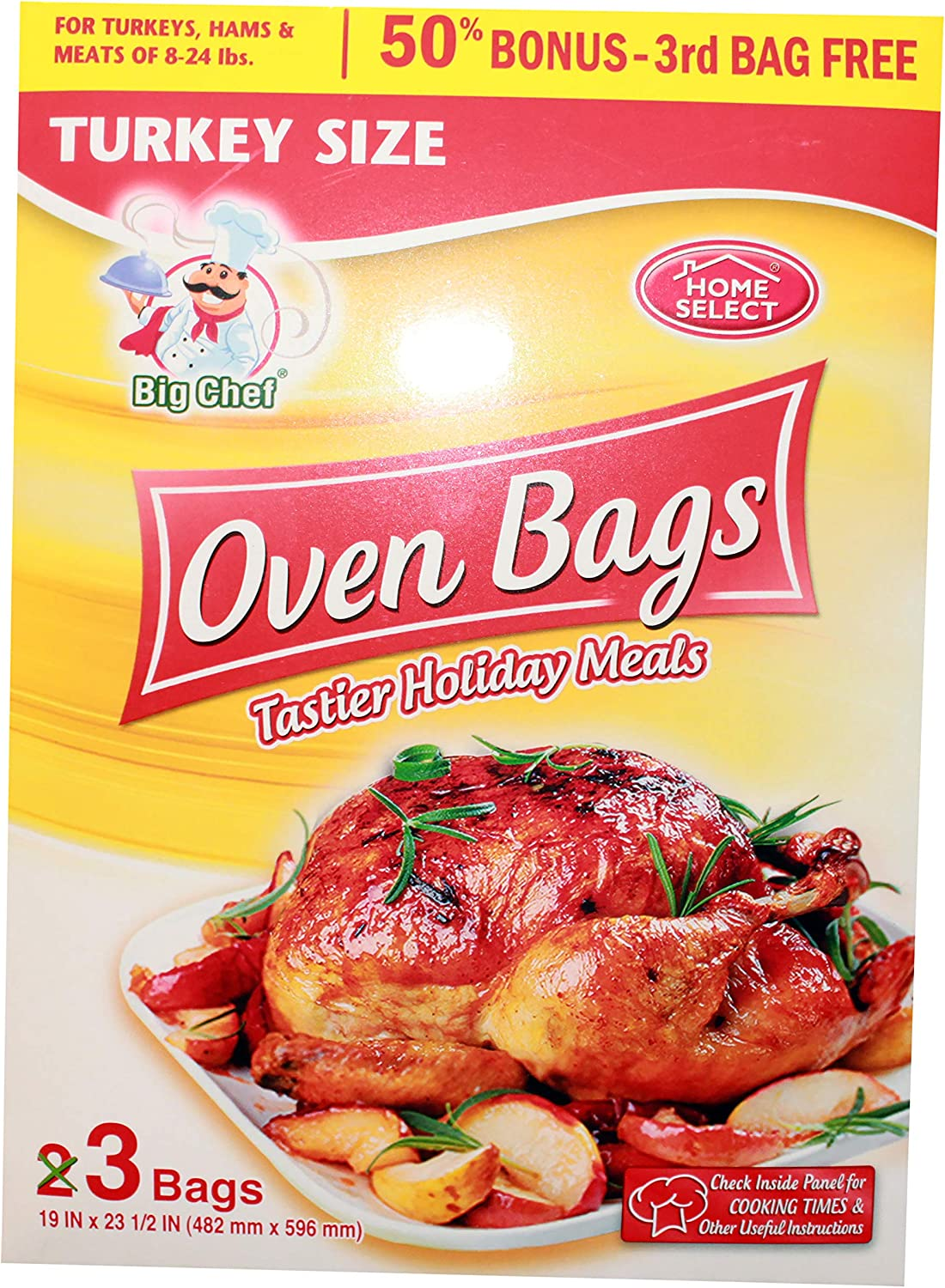 Turkey Size Oven Bags 3 Pack