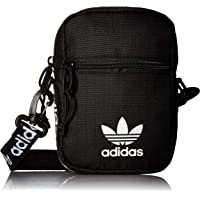 adidas Originals Festival Crossbody Bag, Black/White, One Size