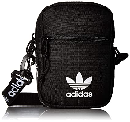b7bf984338 Amazon.com: adidas Originals Festival Crossbody Bag, Black/White ...