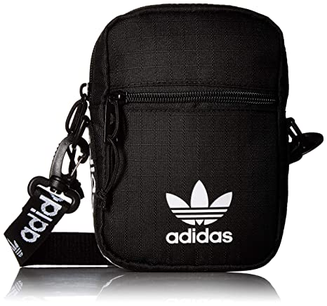d18b2fc54da5e Amazon.com: adidas Originals Festival Crossbody Bag, Black/White, One Size:  Clothing
