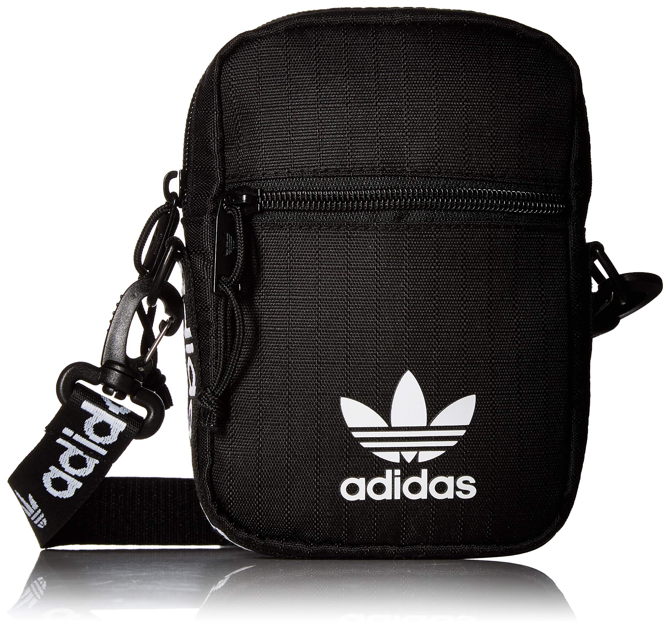 adidas Originals Festival Crossbody Bag, Black/White, One Size