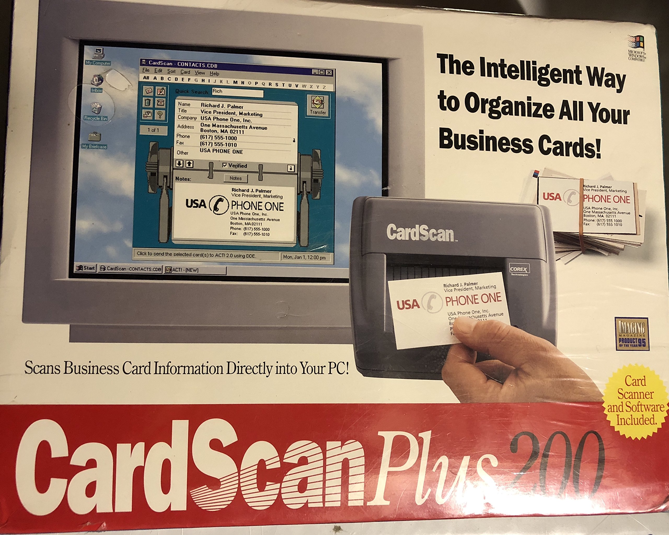 CardScan Plus 200 (The Intelligent Way To Organize Your Business Cards)