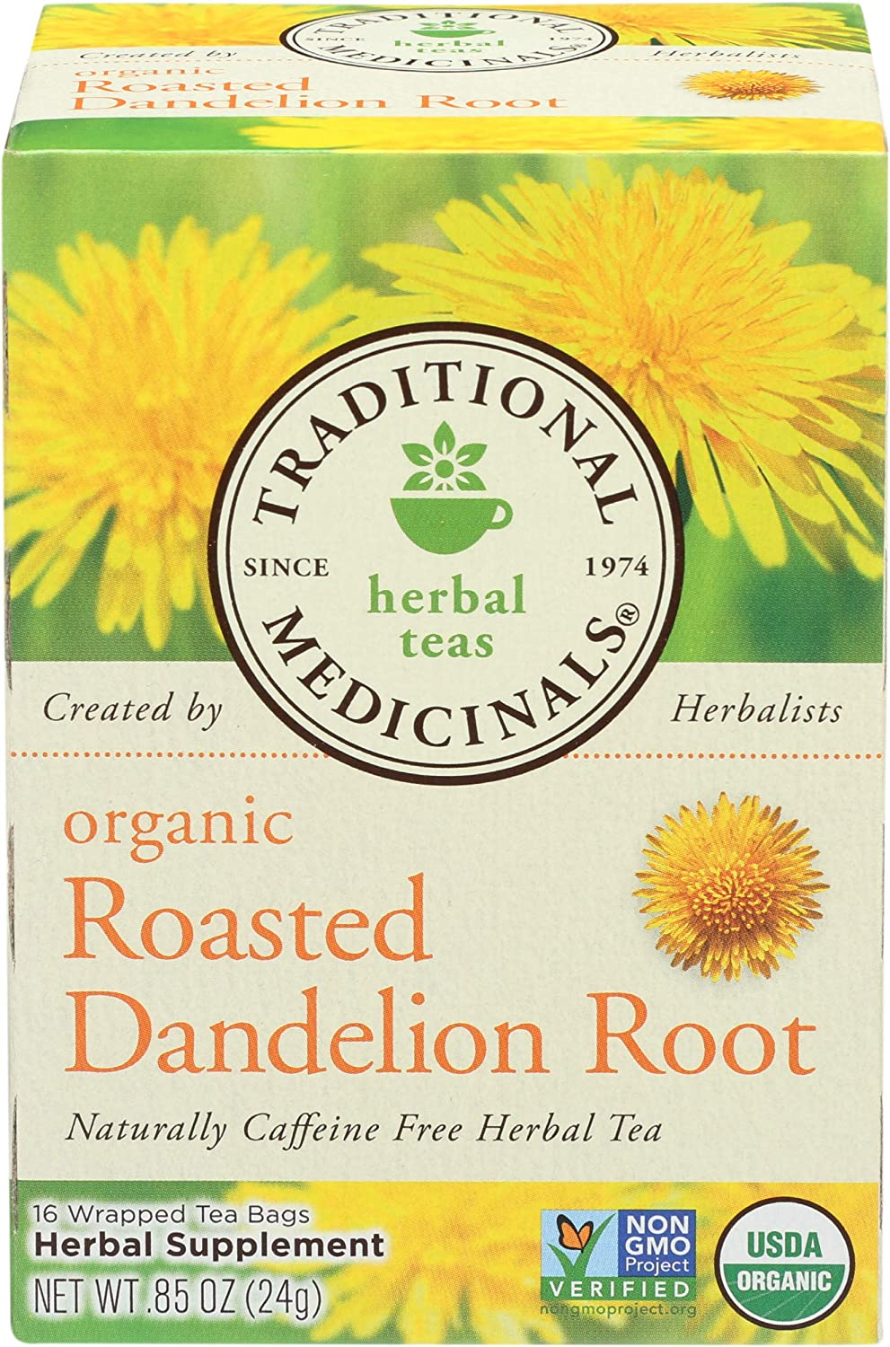 Traditional Medicinals, Tea Roasted Dandelion Root Organic, 16 Count